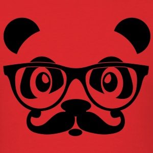 nerd panda with moustache and glasses T-Shirts - Men's T-Shirt