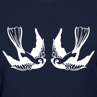 Design ~ PAIR OF SWALLOWS - LADIES TSHIRT