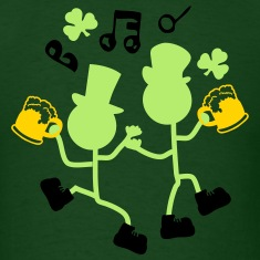 Cheers dancing Irish men Men's Standard Weight T-S