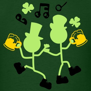 Cheers dancing Irish men Men's Standard Weight T-S - Men's T-Shirt