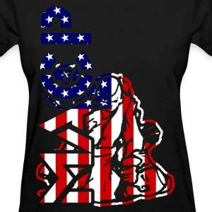 MACP Fighter USA Flag Women - Women's T-Shirt
