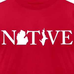 Native Michigander T-Shirts - Men's T-Shirt by American Apparel