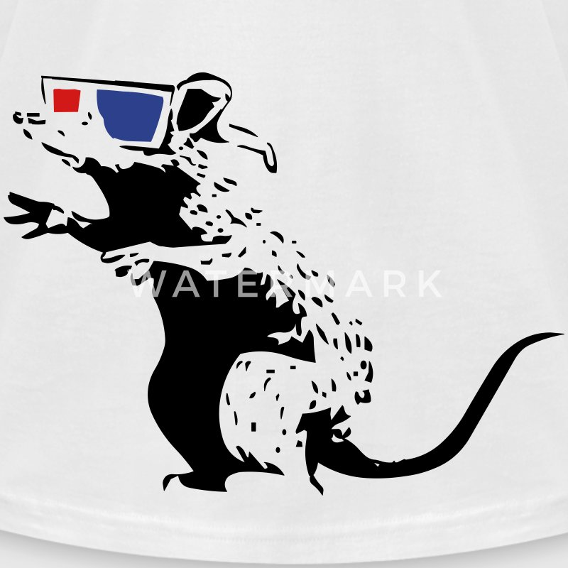 Rat - 3D glasses  T-Shirts - Men's T-Shirt by American Apparel