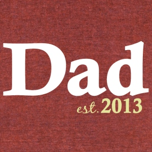 Dad Est 2013 T-Shirts - Unisex Tri-Blend T-Shirt by American Apparel