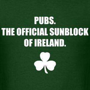 Pubs...The Official Sunblock of Ireland - Men's T-Shirt