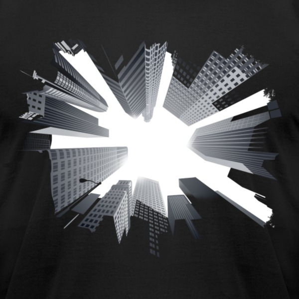 Skyscrapers - Men's T-Shirt by American Apparel