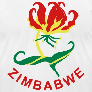 Zimbabwe, Flame Lily T-Shirts - Men's T-Shirt by American Apparel