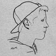 Design ~ Men's Side Portrait Crew Neck