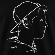 Design ~ Men's Side Portrait White Standard T-Shirt