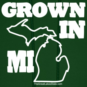 Unisex: Grown in Michigan 'State Green' Hoodie - Men's Hoodie