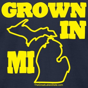 Men: Grown in Michigan 'U of M' - Men's T-Shirt by American Apparel