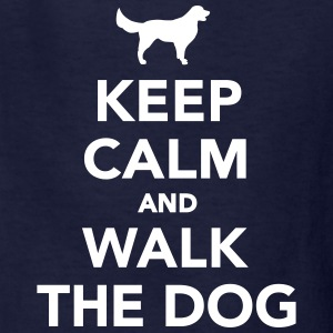 Keep calm and walk dog Kids' Shirts - Kids' T-Shirt