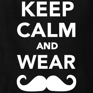 Keep calm and wear Mustache Kids' Shirts - Kids' T-Shirt