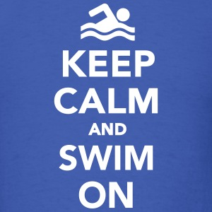 Keep calm and swim on T-Shirts - Men's T-Shirt