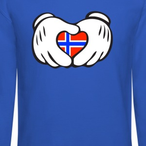 norway heart hand Long Sleeve Shirts - Crewneck Sweatshirt