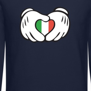 italian heart hand Long Sleeve Shirts - Crewneck Sweatshirt