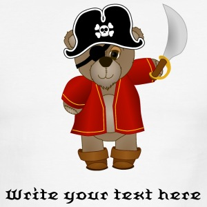 Customizable Teddy Bear Pirate Captain T-Shirt - Men's Ringer T-Shirt