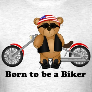 Teddy Bear Biker - Men's T-Shirt