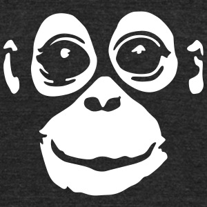orangutan (negative colors) T-Shirts - Unisex Tri-Blend T-Shirt by American Apparel