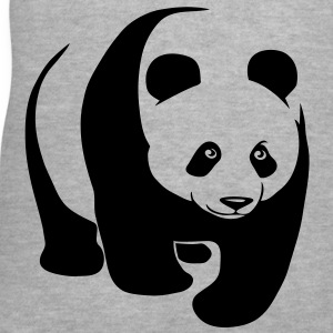 panda teddy bear face cute animal save Women's T-Shirts - Women's V-Neck T-Shirt