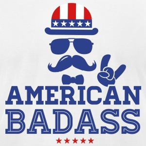 Like a USA love America American flag Badass boss T-Shirts - Men's T-Shirt by American Apparel