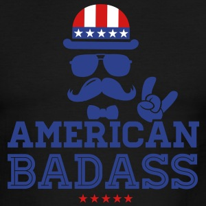 Like a USA love America American flag Badass boss T-Shirts - Men's Ringer T-Shirt