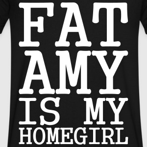 Fat Amy Is My Homegirl T-Shirts - Men's V-Neck T-Shirt by Canvas