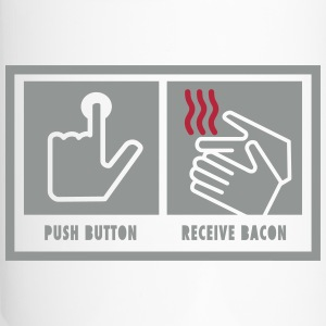 Push Button. Receive Bacon. Bottles & Mugs - Travel Mug