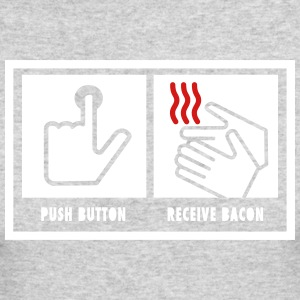 Push Button. Receive Bacon. Long Sleeve Shirts - Men's Long Sleeve T-Shirt by Next Level