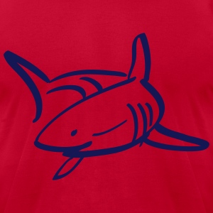 white shark T-Shirts - Men's T-Shirt by American Apparel