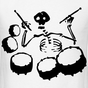 Skeleton Band T-Shirts - Men's T-Shirt