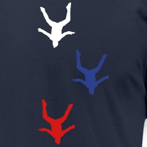 Skydivers head - Men's T-Shirt by American Apparel