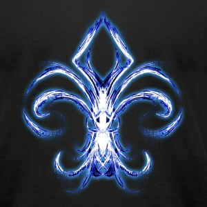 Blue Fleur De Lis - Men's T-Shirt by American Apparel