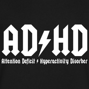 adhd T-Shirts - Men's V-Neck T-Shirt by Canvas