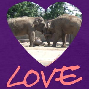 Elephants in Love - Women's T-Shirt