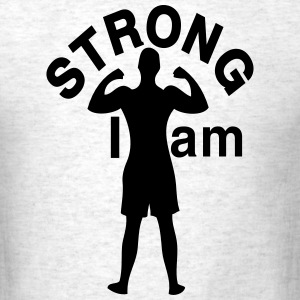 I am Strong man Men's Standard Weight T-Shirt - Men's T-Shirt