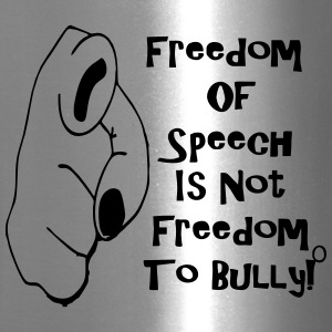 freedom_to_speak_is_not_freedom_to_bully Bottles & Mugs - Travel Mug