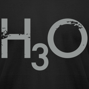 h3o T-Shirts - Men's T-Shirt by American Apparel