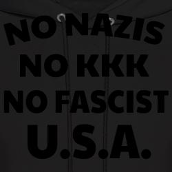 No nazis no kk no fascists USA