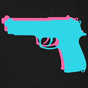 Retro Gun T-Shirt - Men's T-Shirt