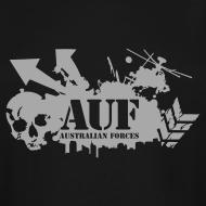 Design ~ AUF Logo - Men's TALL T-Shirt - basic Logo - Metallic Silver LOGO + URL
