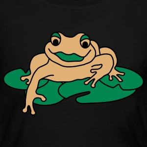 Lily Pad Frog Long Sleeve Shirts - Women's Long Sleeve Jersey T-Shirt