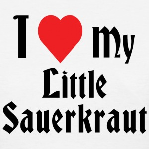 German I Love My Little Sauerkraut T-Shirt - Women's T-Shirt