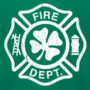 Vintage Irish Fire Dept. (Distressed Design) - Men's T-Shirt by American Apparel