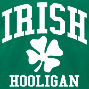 IRISH Hooligan Shamrock - Men's T-Shirt by American Apparel