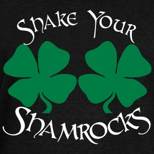 SHAKE YOUR SHAMROCKS Long Sleeve Shirts - Women's Wideneck Sweatshirt
