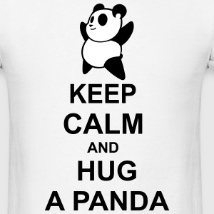 keep calm and hug a panda - Men's T-Shirt