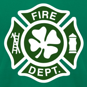 Irish Fire Dept. - Men's T-Shirt by American Apparel