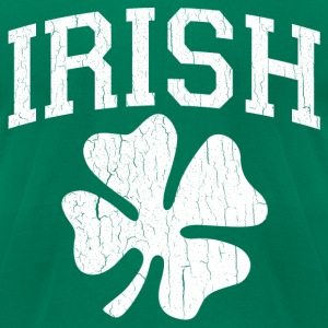 IRISH Shamrock (distressed design) - Men's T-Shirt by American Apparel
