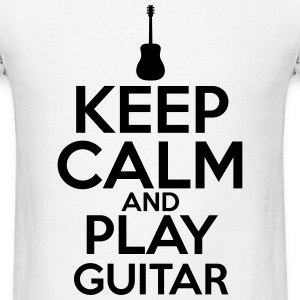 Black Keep Calm and Play Guitar T-Shirts - Men's T-Shirt